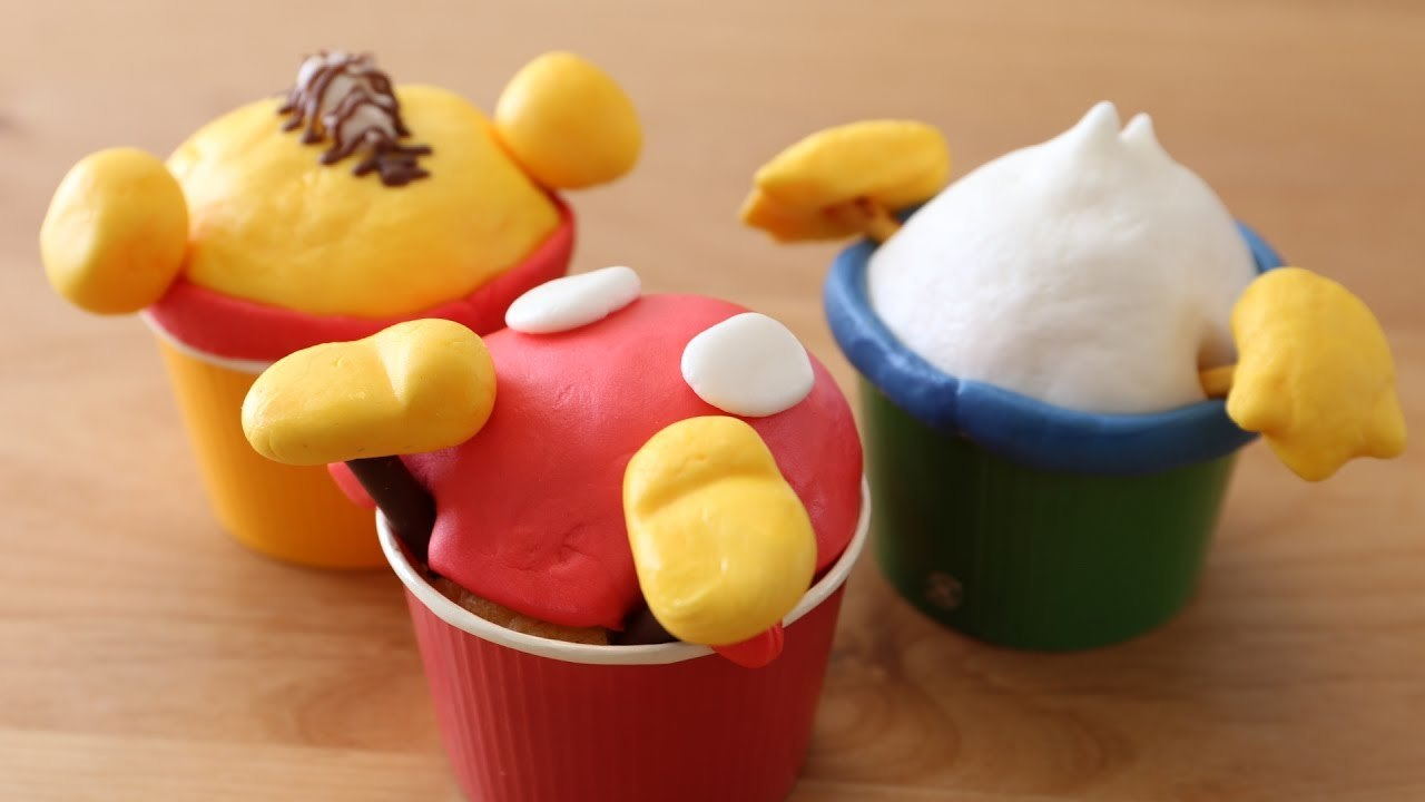 How to make Butt Cupcakes  【Disney Characters】
