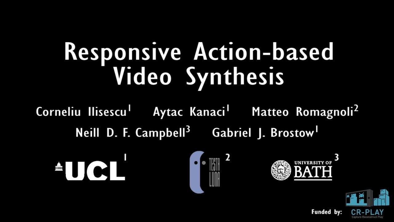 Responsive Action-based Video Synthesis
