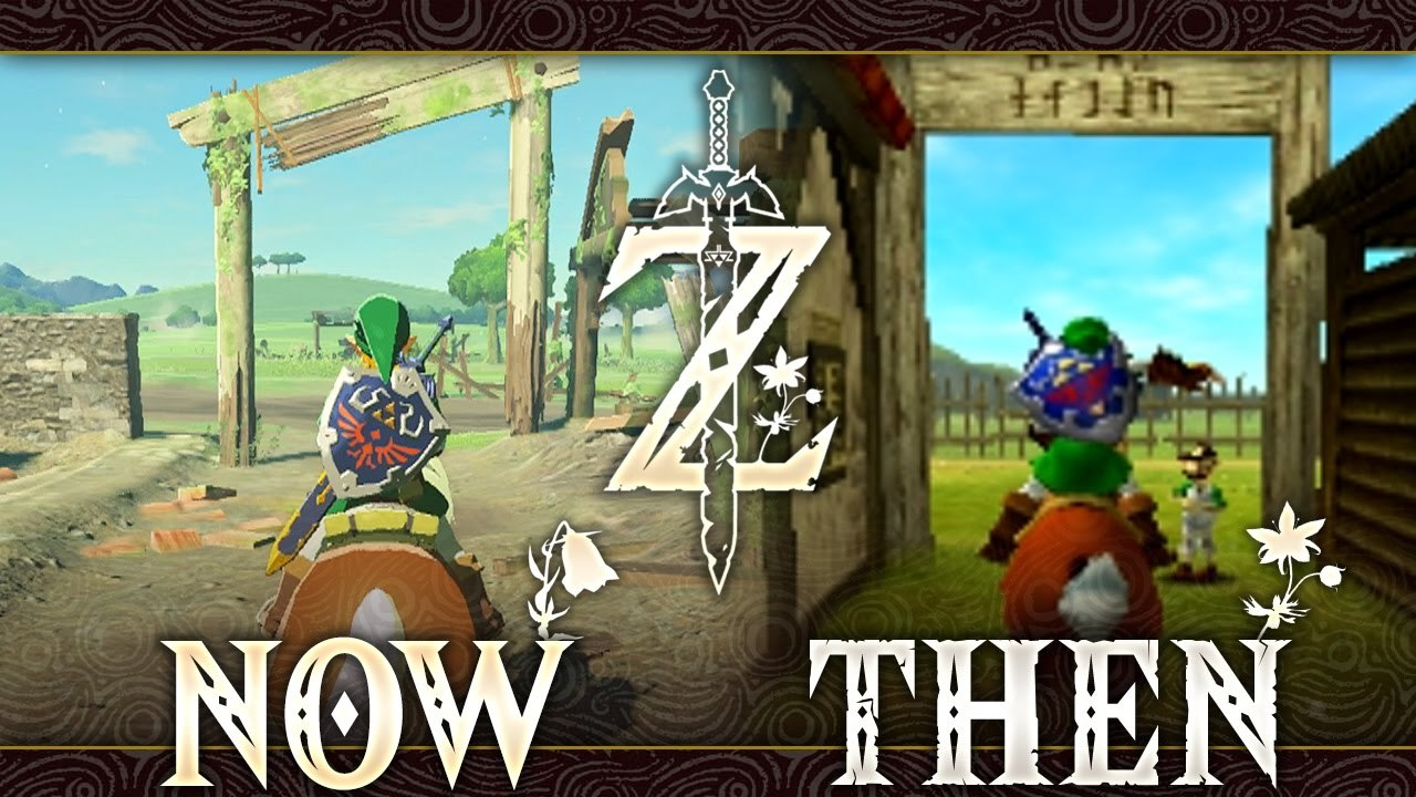 Hyrule Then and Now - Zelda: Breath of the Wild (Comparison)