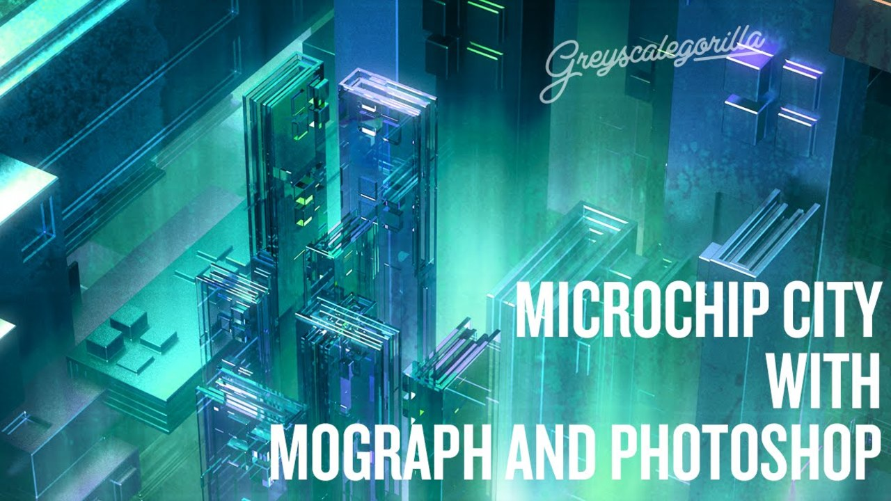Cinema 4D - ASKGSG - Creating a Microchip City with Mograph