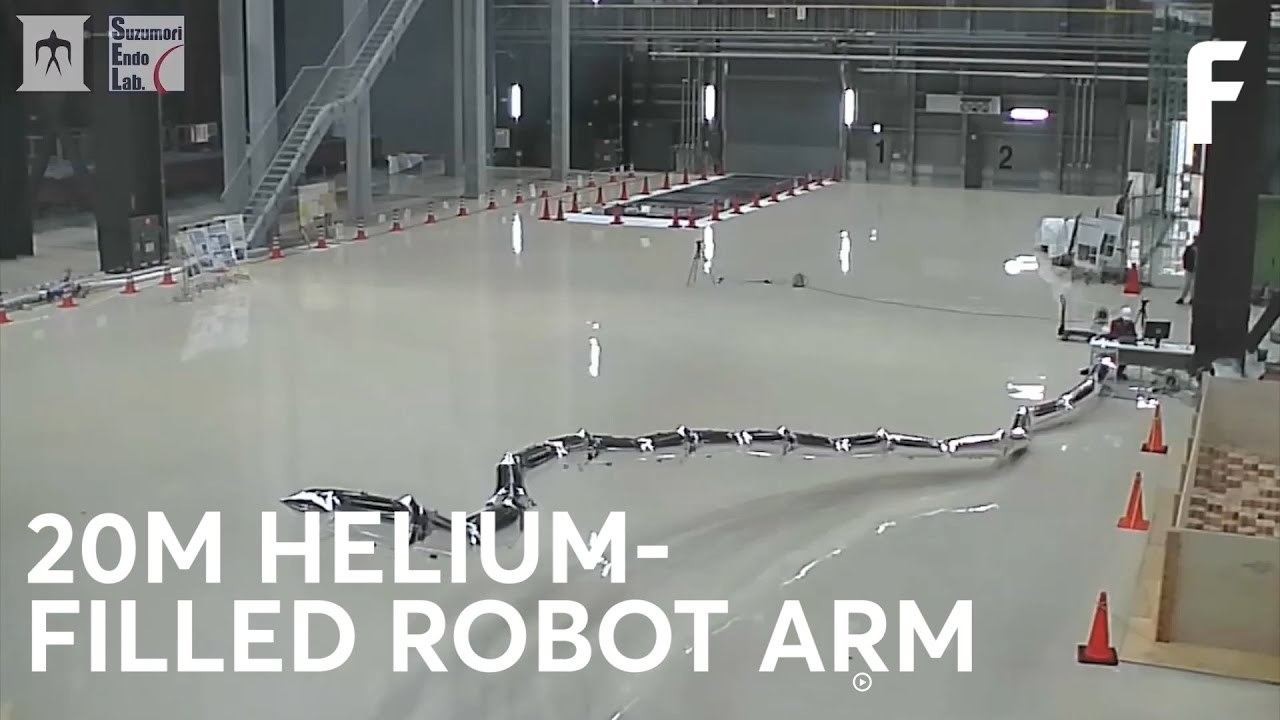 This Super-Tall Robotic Arm Is Made of Helium Balloons