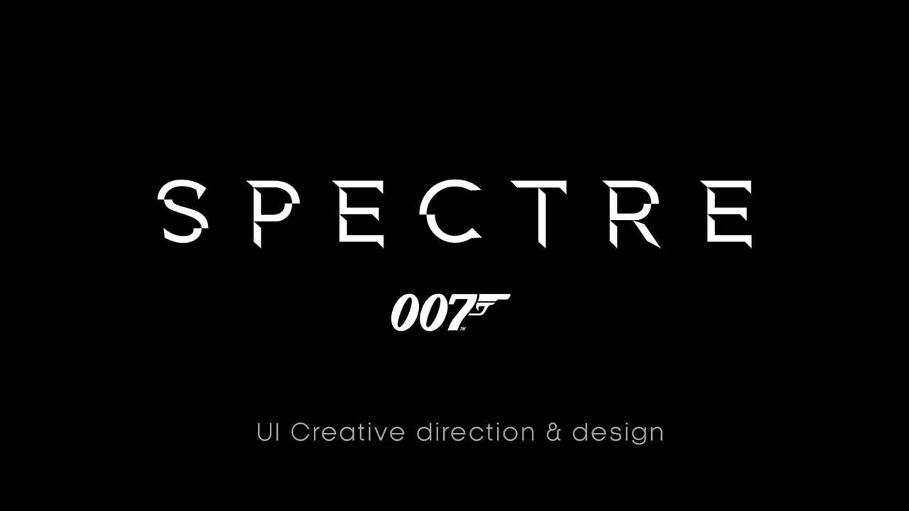 Spectre - UI Creative direction, design and animation