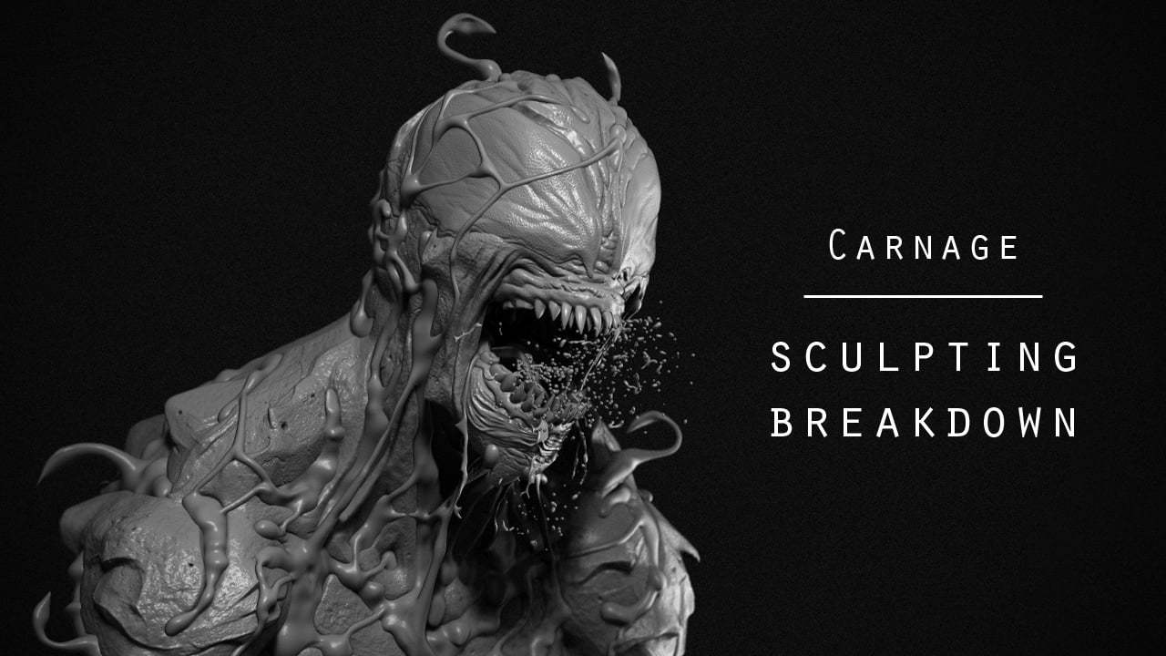 Carnage symbiote - Sculpting breakdown