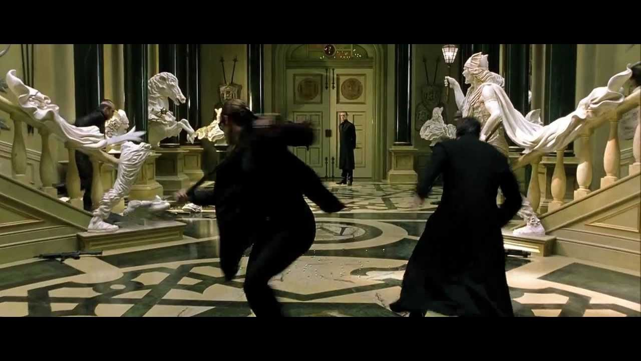 The Matrix Reloaded Chateau Fight 720p HD