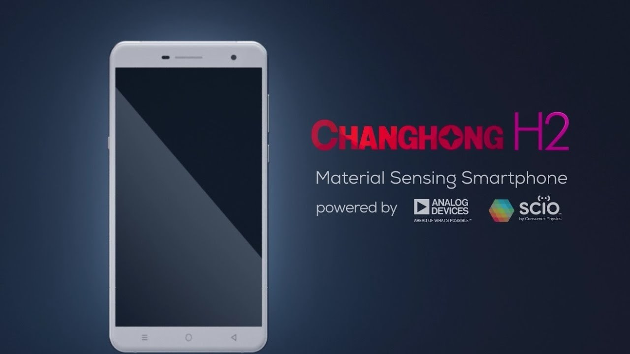 SCiO Inside! The world's first smartphone with an embedded SCiO molecular sensor - the Changhong H2