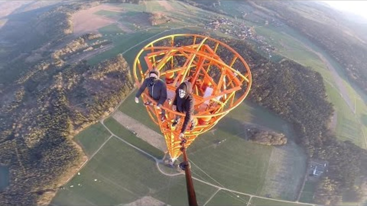 Climbing a 363m Radio Tower in Donebach Germany-GYK
