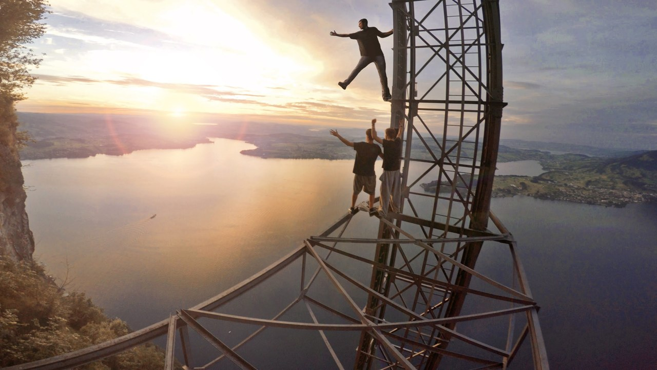 Climbing a 680m High Elevator for Sunset