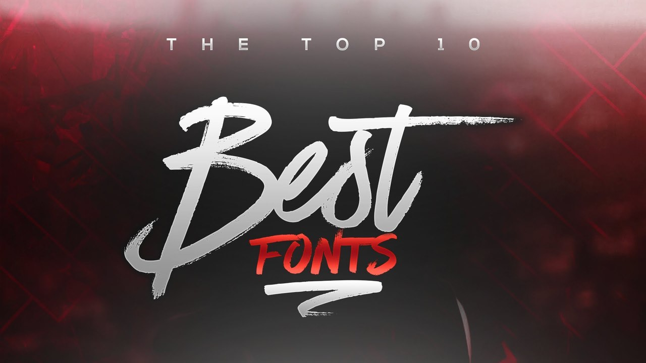 Best FREE Fonts to Use for YouTube 2016! (for Banners/Headers/Logos)