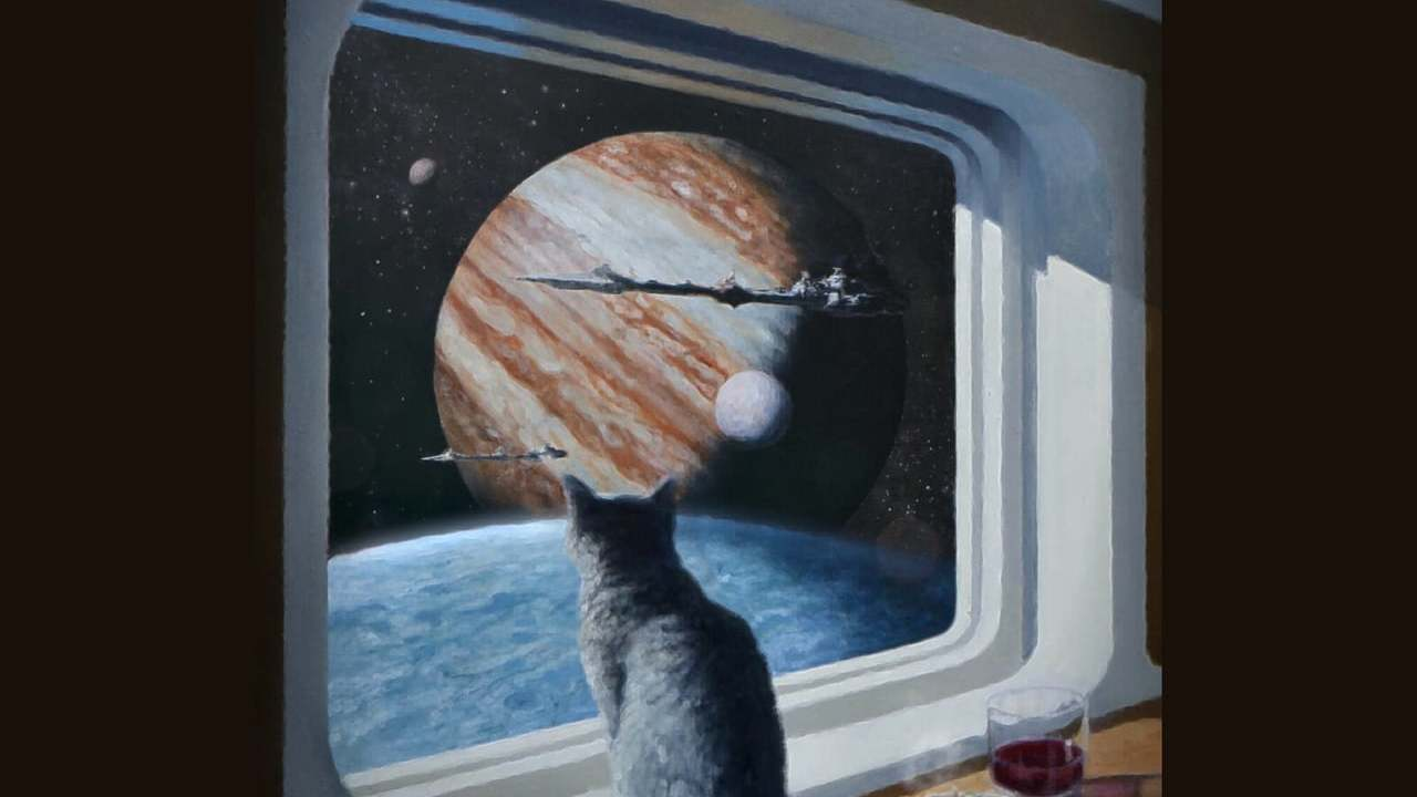 Ship's Cat (painting to 3d)