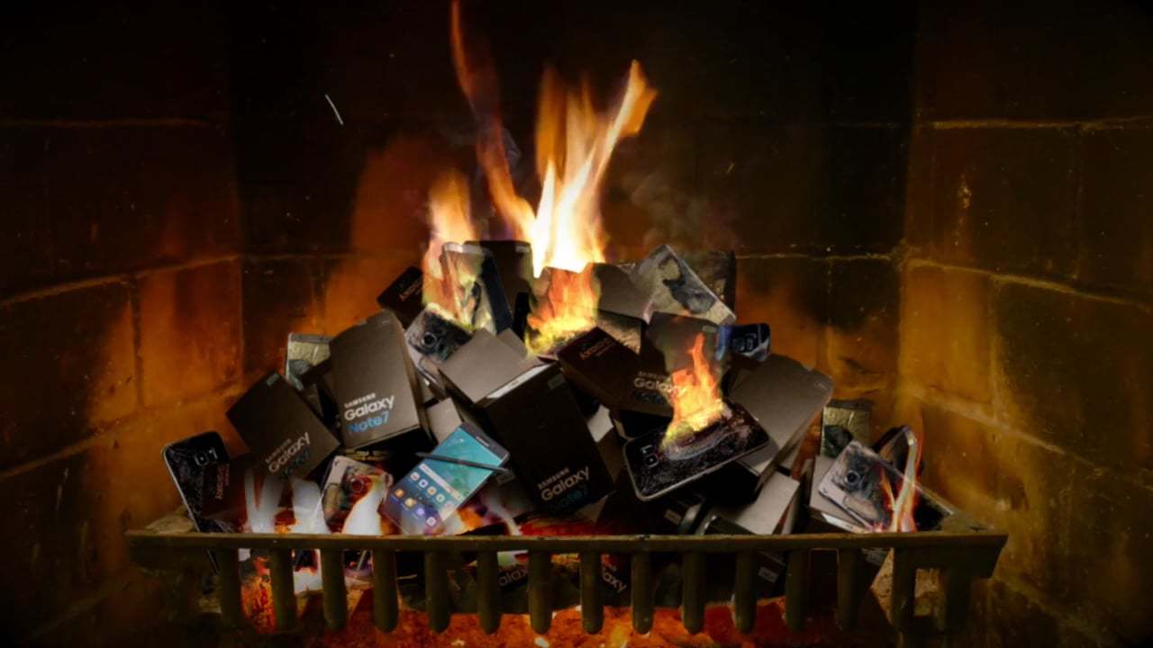 Samsung Galaxy Note 7 Fireplace with Relaxing Ringtone Music